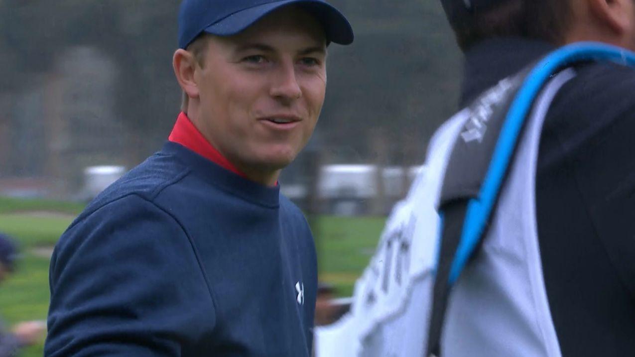 Jordan Spieth's lucky break yields birdie on No. 6 at the Genesis Open