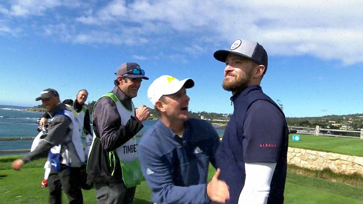 Justin Timberlake flirts with an ace for the Shot of the Day