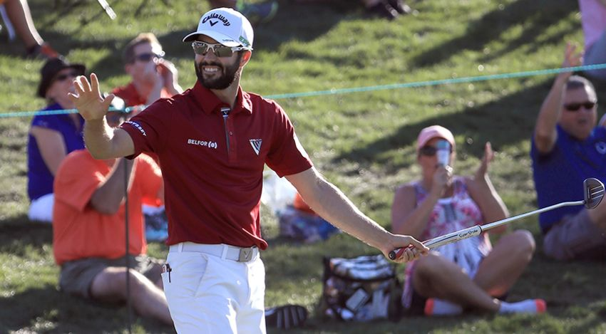 This is Adam Hadwin's second time holding the lead heading into the final round. (Sam Greenwood/Getty Images)