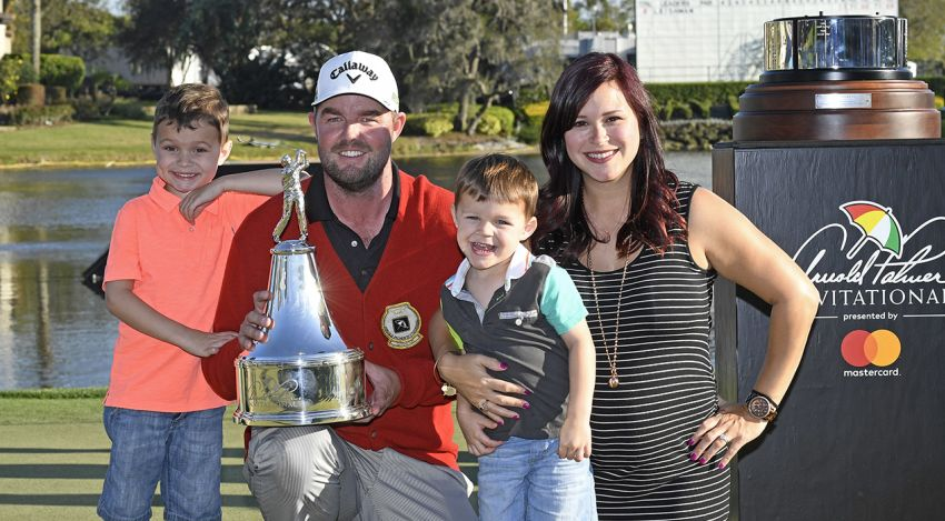 Marc Leishman and Family with the API trophy