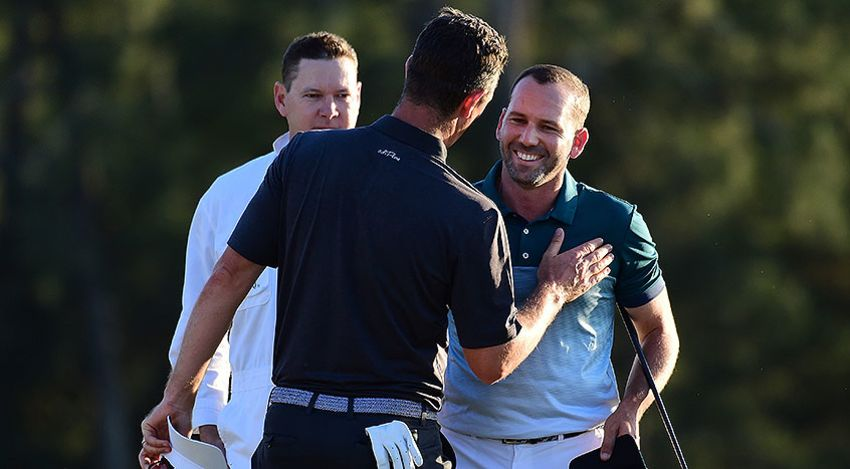Sergio Garcia birdied the first hole of a sudden-death playoff to defeat Justin Rose at Augusta National. (Harry How/Getty Images)