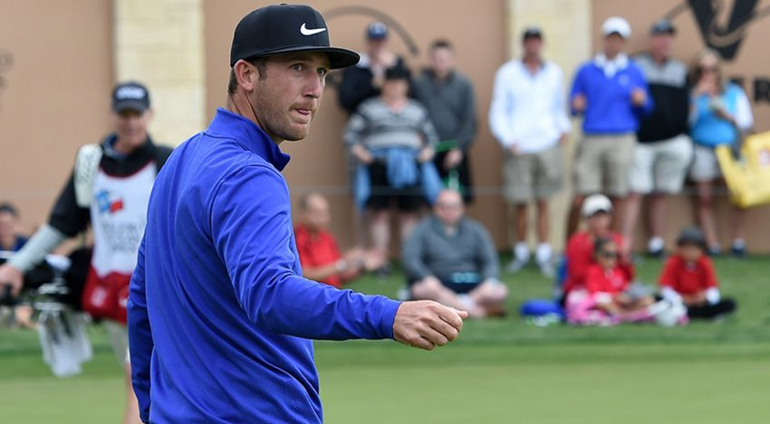 Kevin Chappell had a rough start to his day, but he heads into Sunday with the lead. (Steve Dykes/Getty Images)