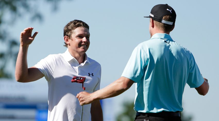Cameron Smith and Jonas Blixt got it done in the new team format. (Marianna Massey/Getty Images)
