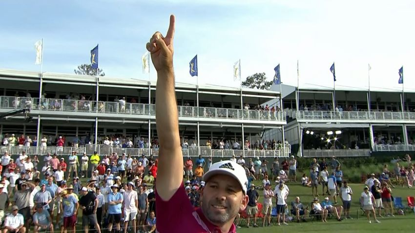 Sergio Garcia's electric ace on No. 17 is the Shot of the Day