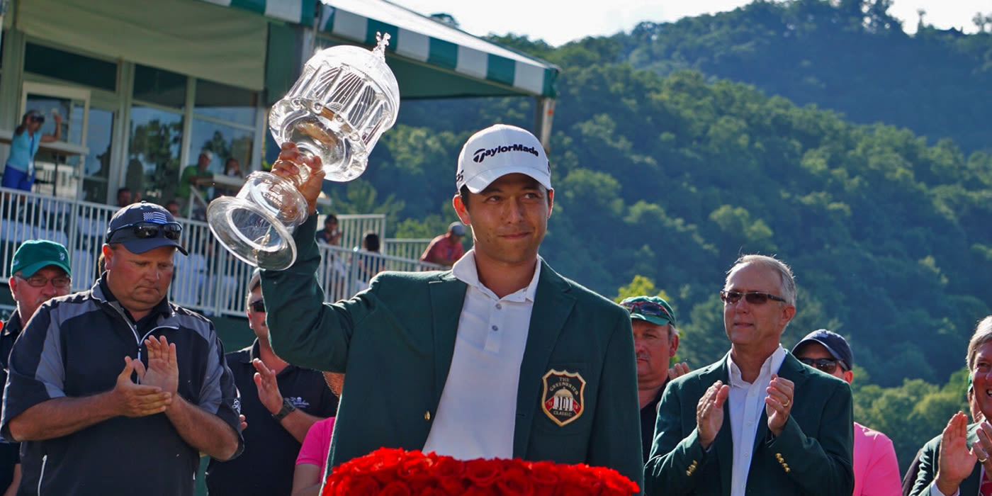 Xander Schauffele hoists Greenbrier trophy
