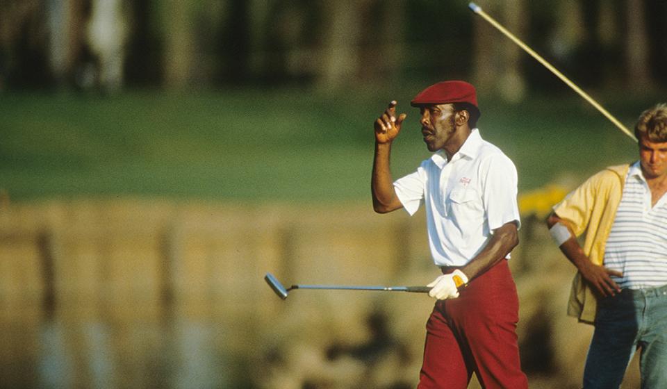 Calvin Peete during the 1985 PLAYERS Championship. (PGA TOUR)