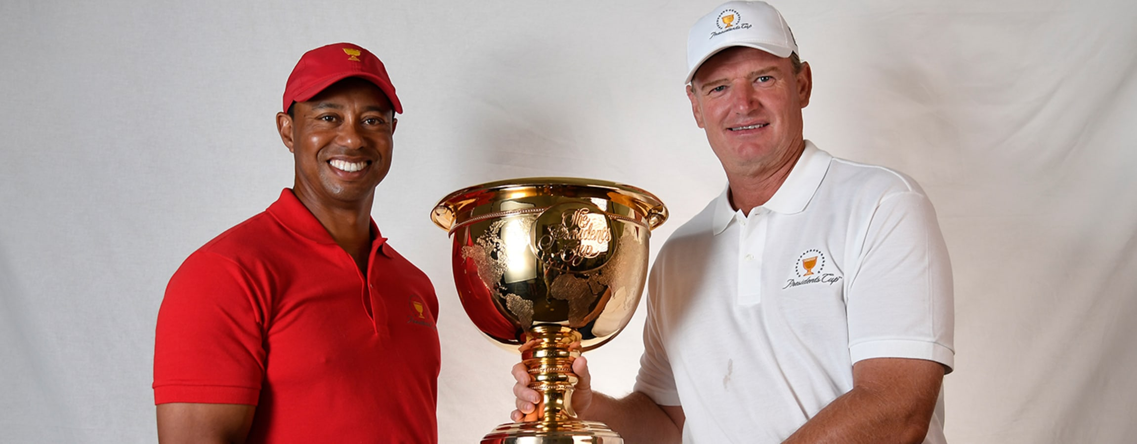Tiger and Ernie with the Cup
