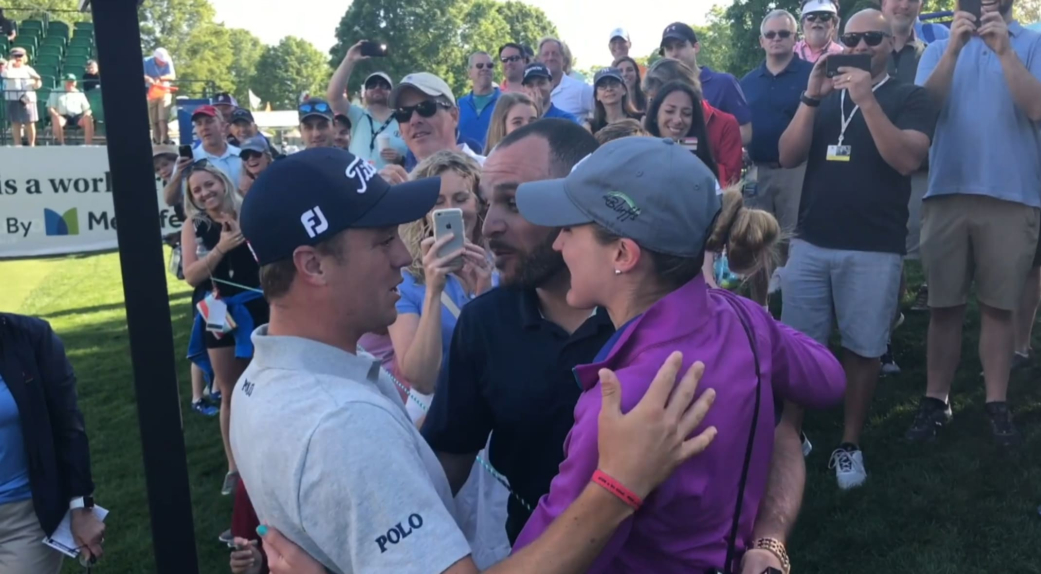 Justin Thomas aids marriage proposal at Wells Fargo Championship pro-am 7bae2245cd24