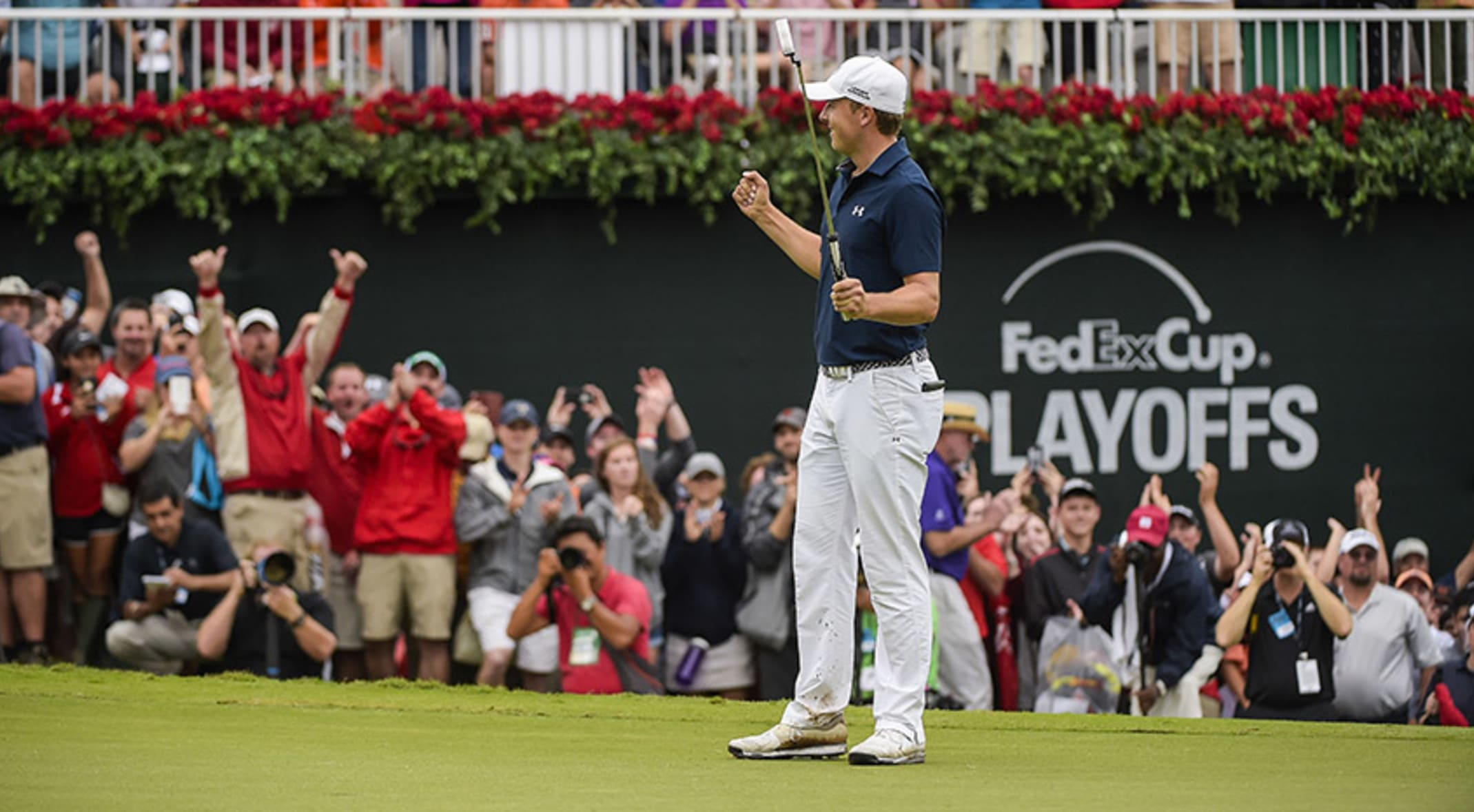 548b6841bc60 Jordan Spieth finished either first or second in 36 percent of his starts  this season.