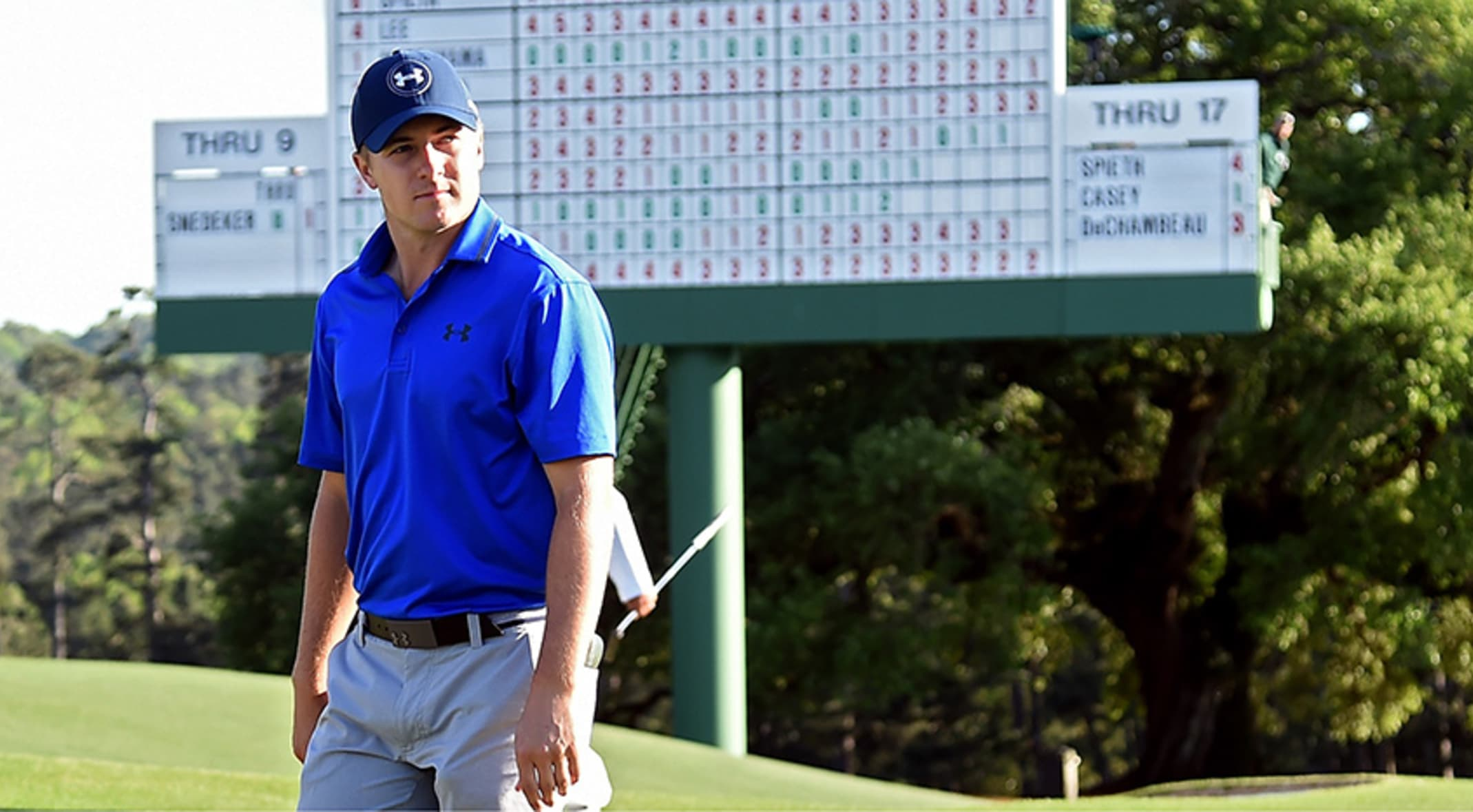 7a711f1b6fa140 Jordan Spieth is looking to win his second straight Masters. (Harry  How Getty