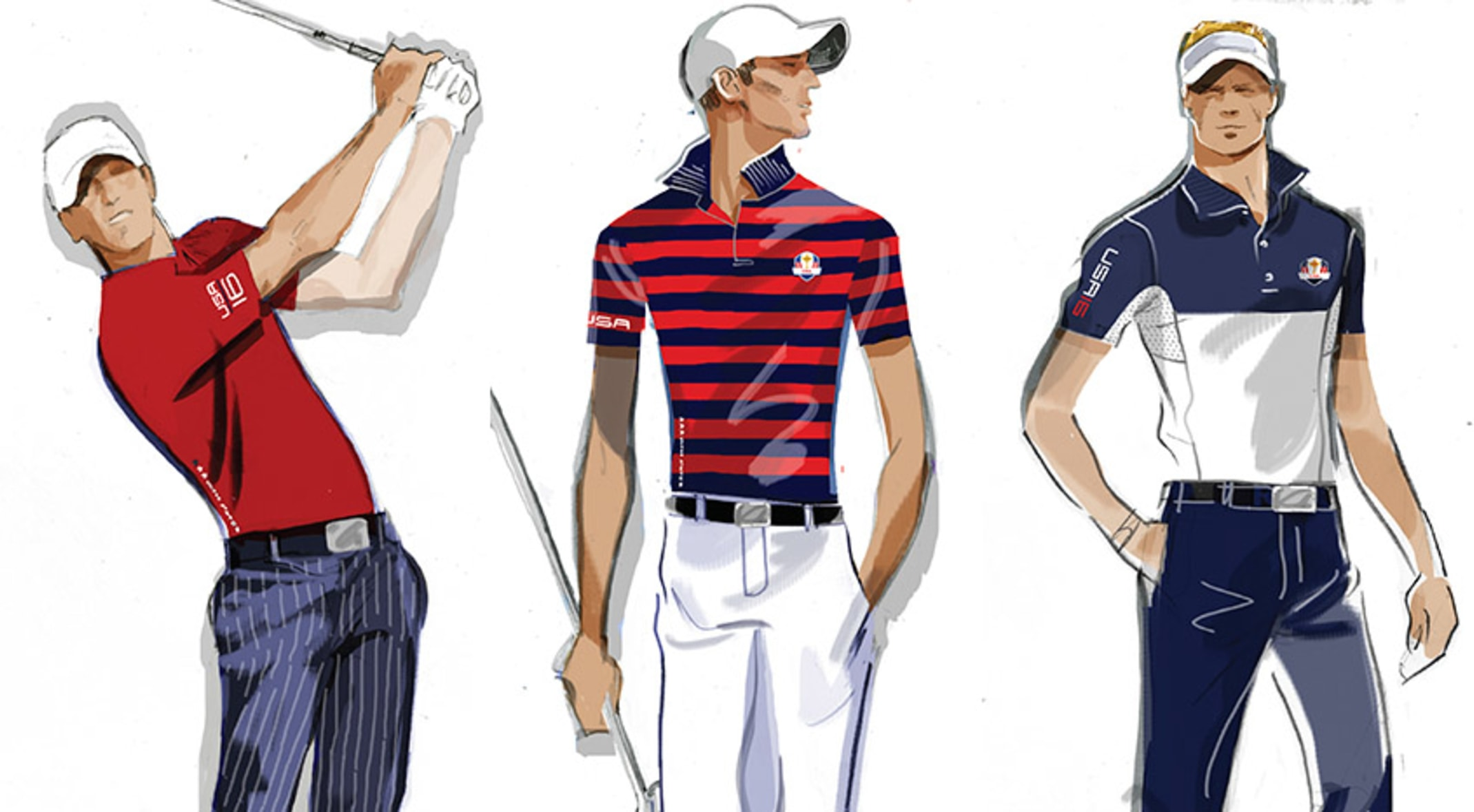 b10d2f2bed9a8 The members of Team USA will be looking sharp in kits from Ralph Lauren at  Hazeltine