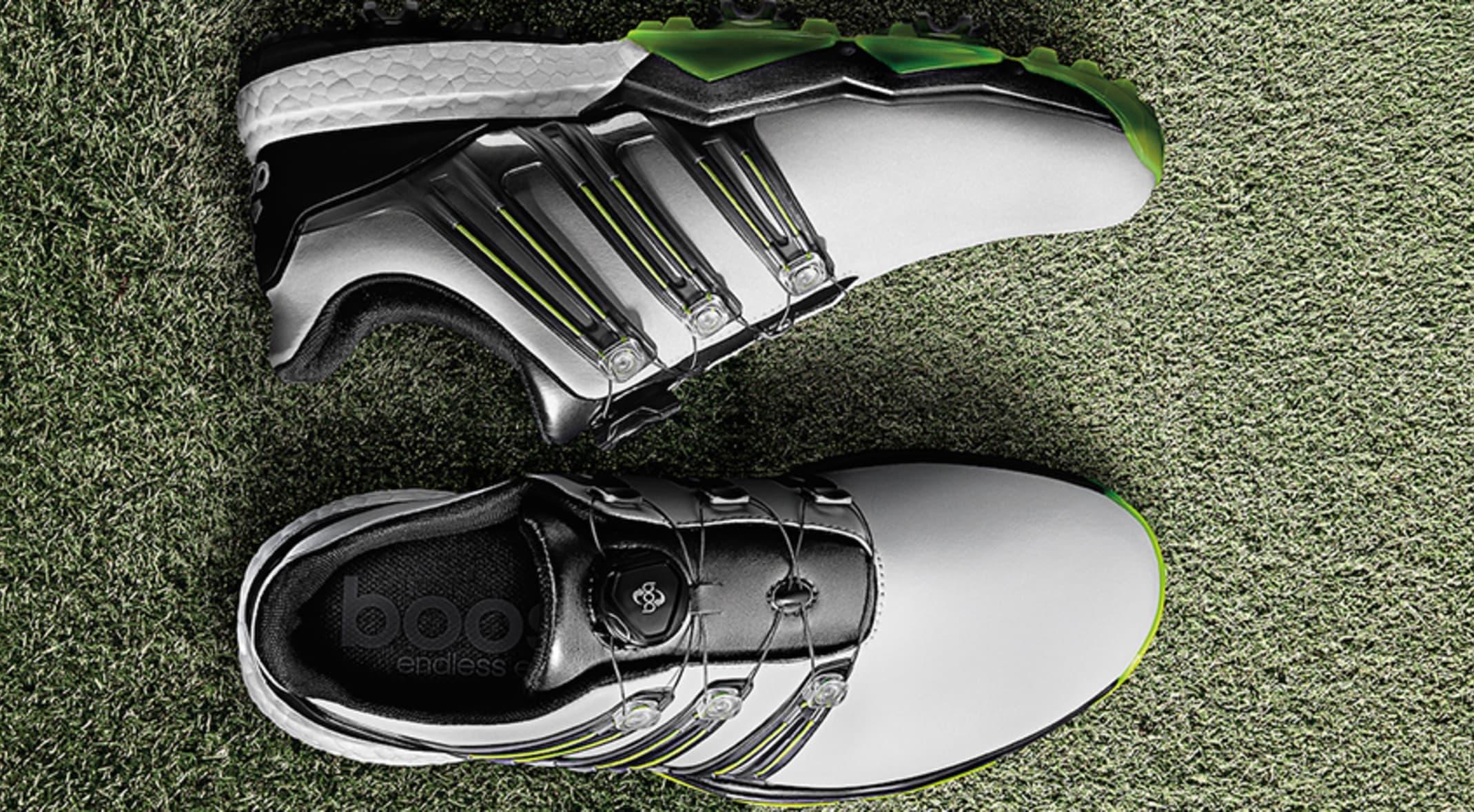 best website 269c3 e4a85 Adidas is bringing back its Powerband golf shoe. (Photos courtesy of Adidas  Golf)