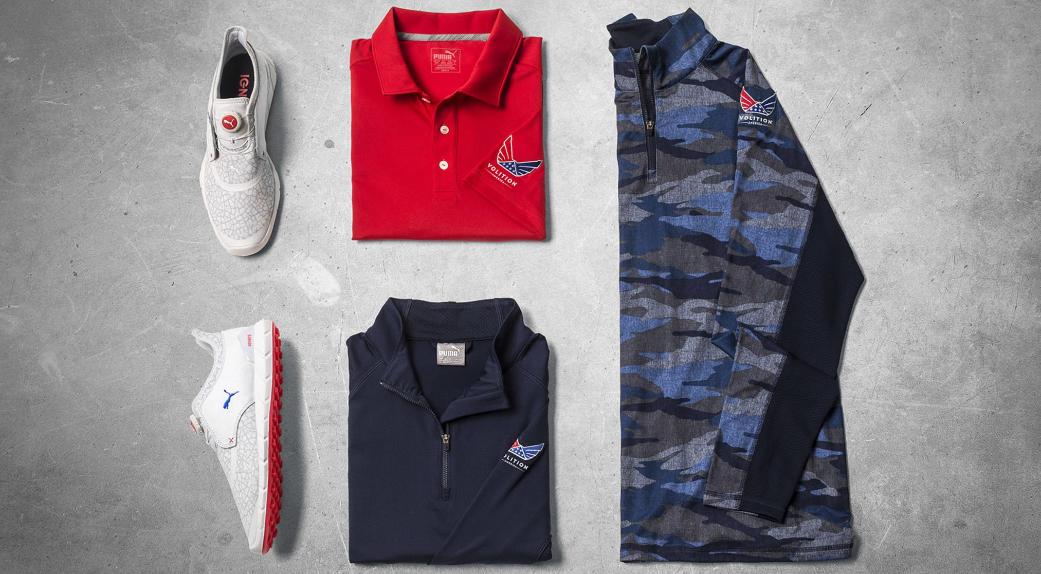 super popular d0454 c2c2d Puma s new Volition America Golf Collection, sales of which benefit the  families of fallen service