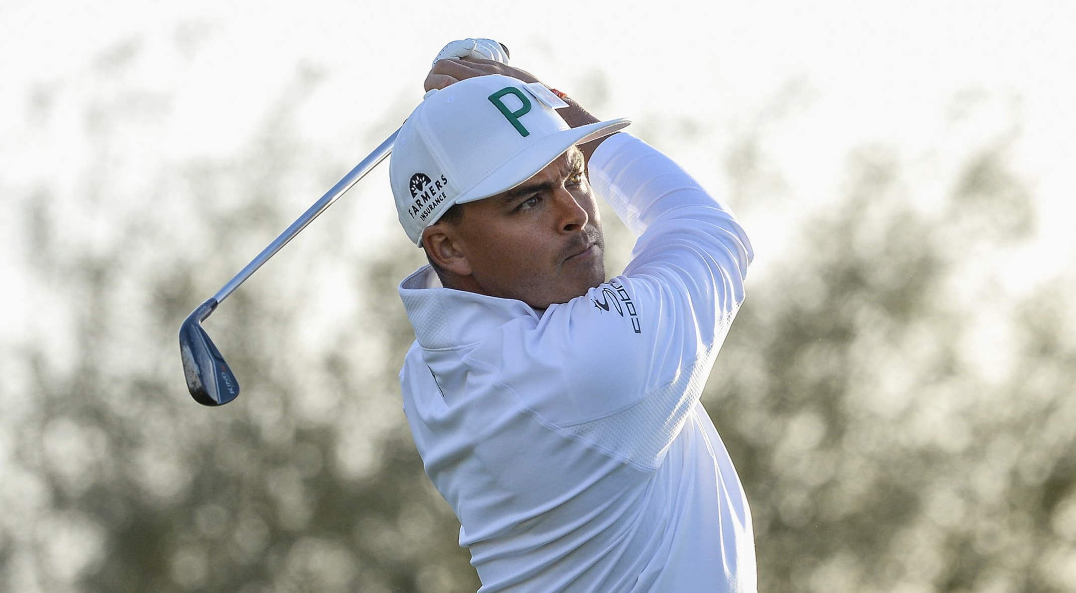 450a71664e0 Rickie Fowler wore this recyclable Puma hat during the first round of the  Waste Management Phoenix