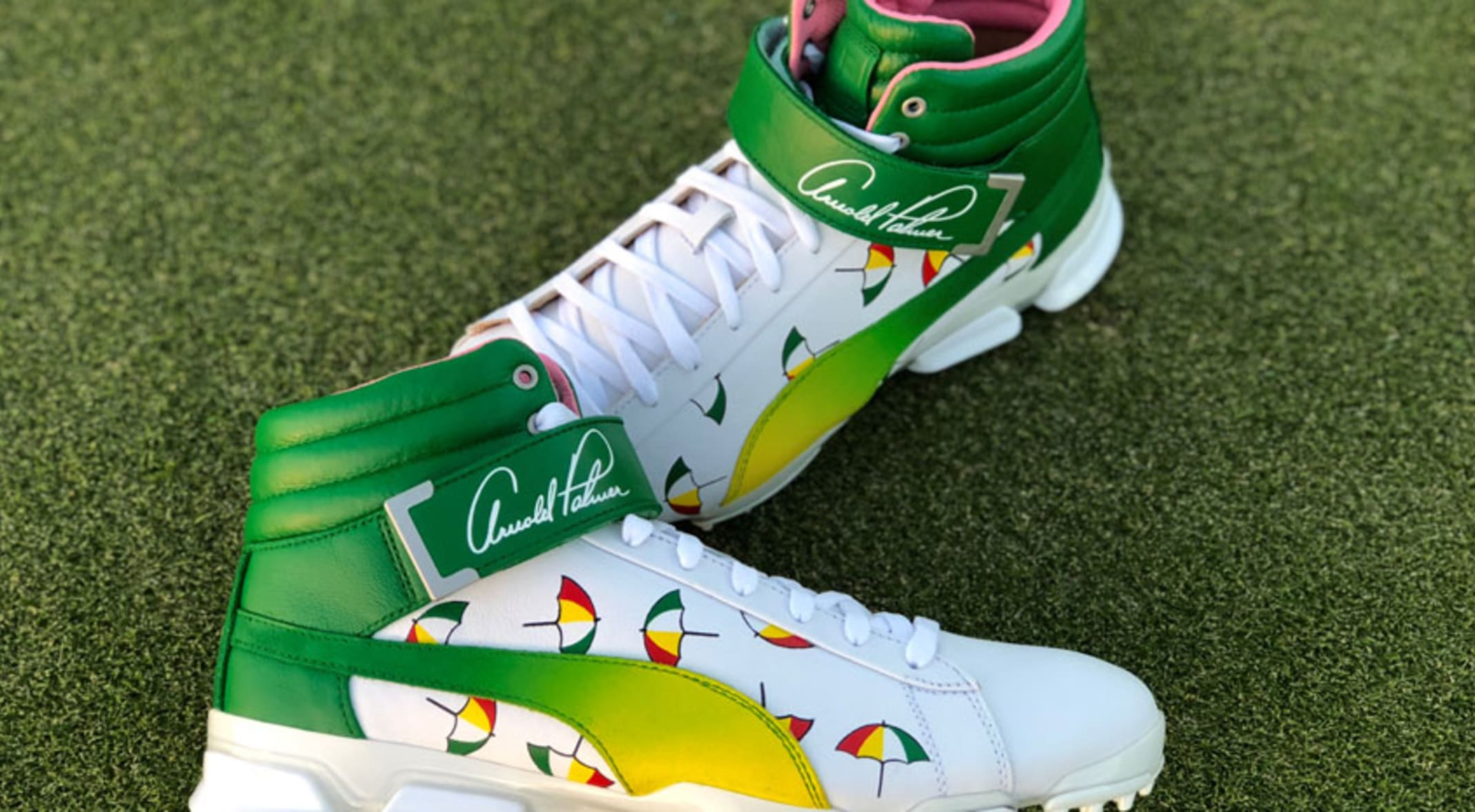 Rickie Fowler will wear these custom Arnie apos s Army Puma high-tops to  honor 13368e25d