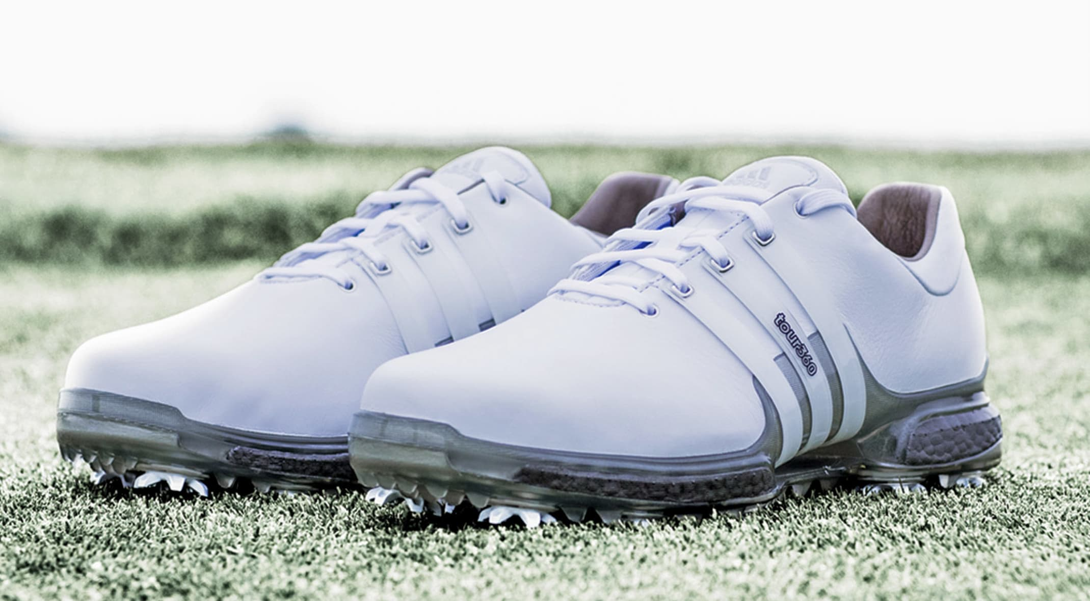 separation shoes c06c4 a8f93 Adidas Golf unveiled three Special Edition Silver BOOST sneakers, including  the TOUR360 shown here,