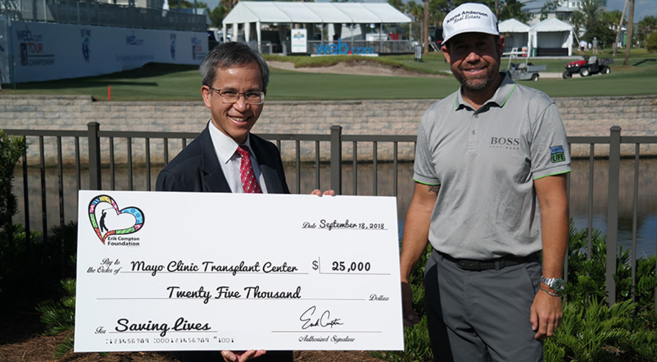 Erik Compton Foundation donates $25,000 to Mayo Clinic Transplant Center