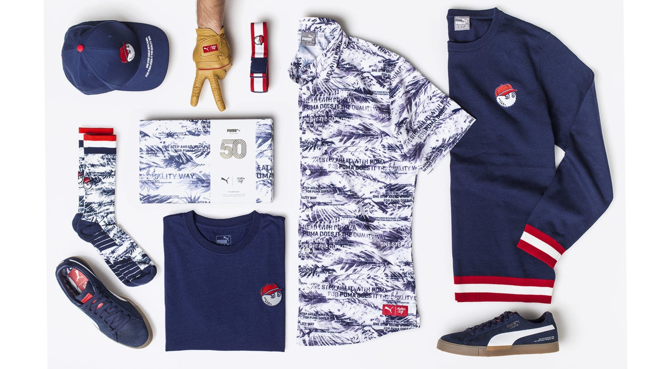 e55dec8a002b Puma and Malbon Golf have collaborated on an edgy eight piece collection  that blends vintage style