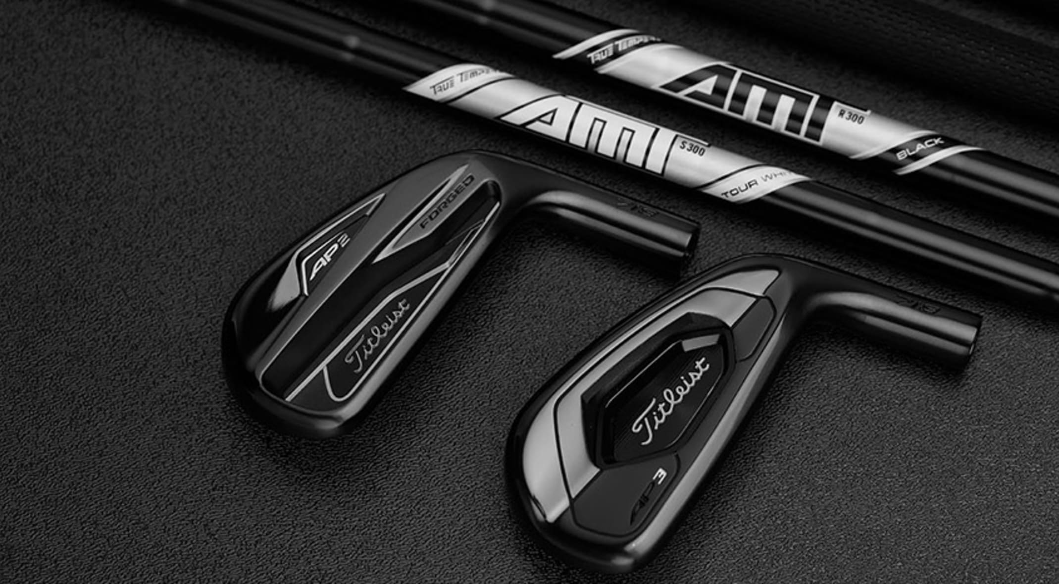 Titleist's new limited-edition, all-black AP2 and AP3 irons