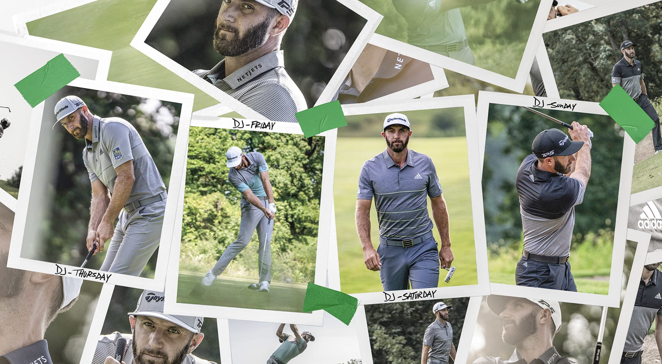 29e9e08bb91 Dark tone-on-tone kits have become signature looks for Dustin Johnson, a