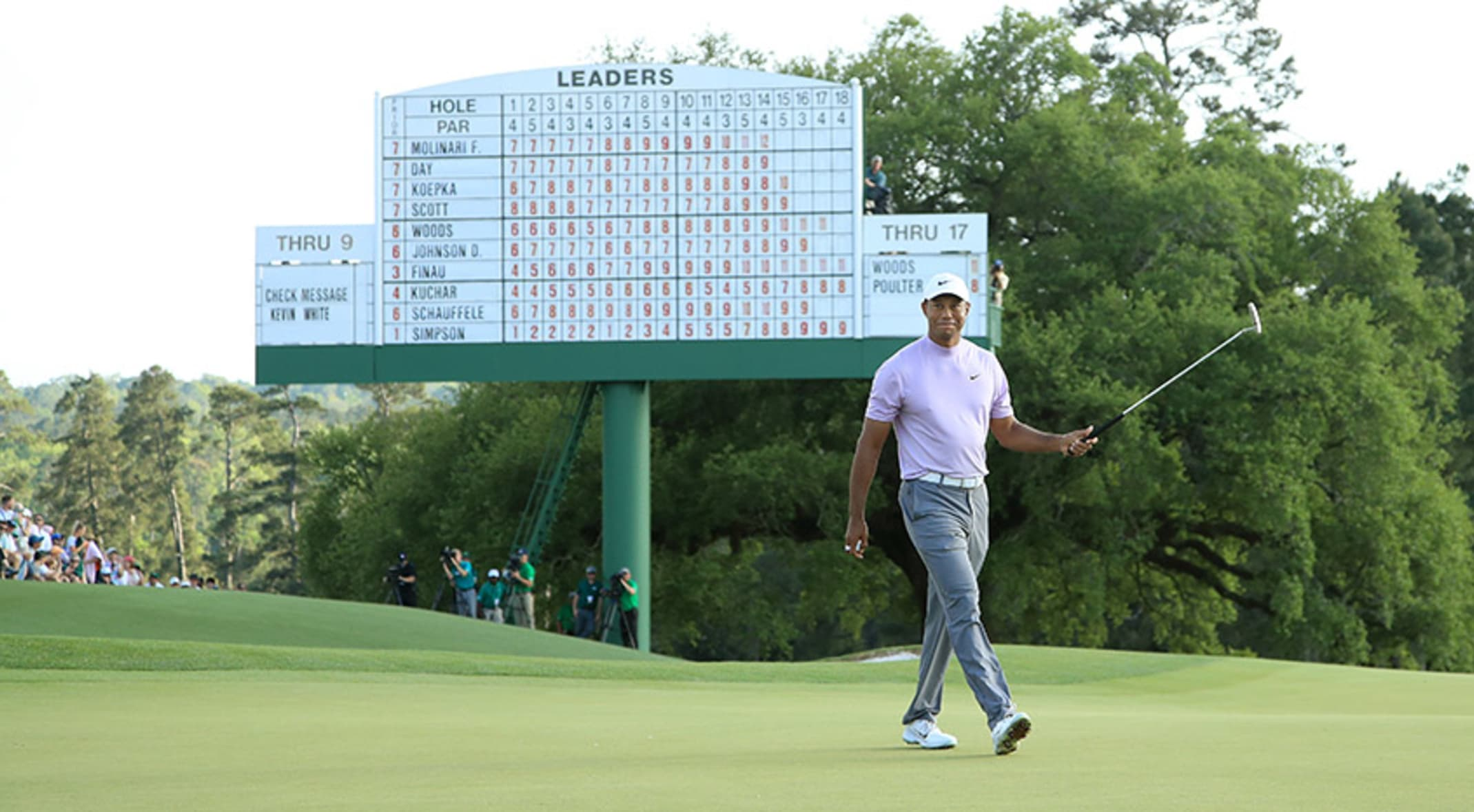 bb98301f9453c Tiger Woods will be in the final group on Sunday at the Masters. (Andrew
