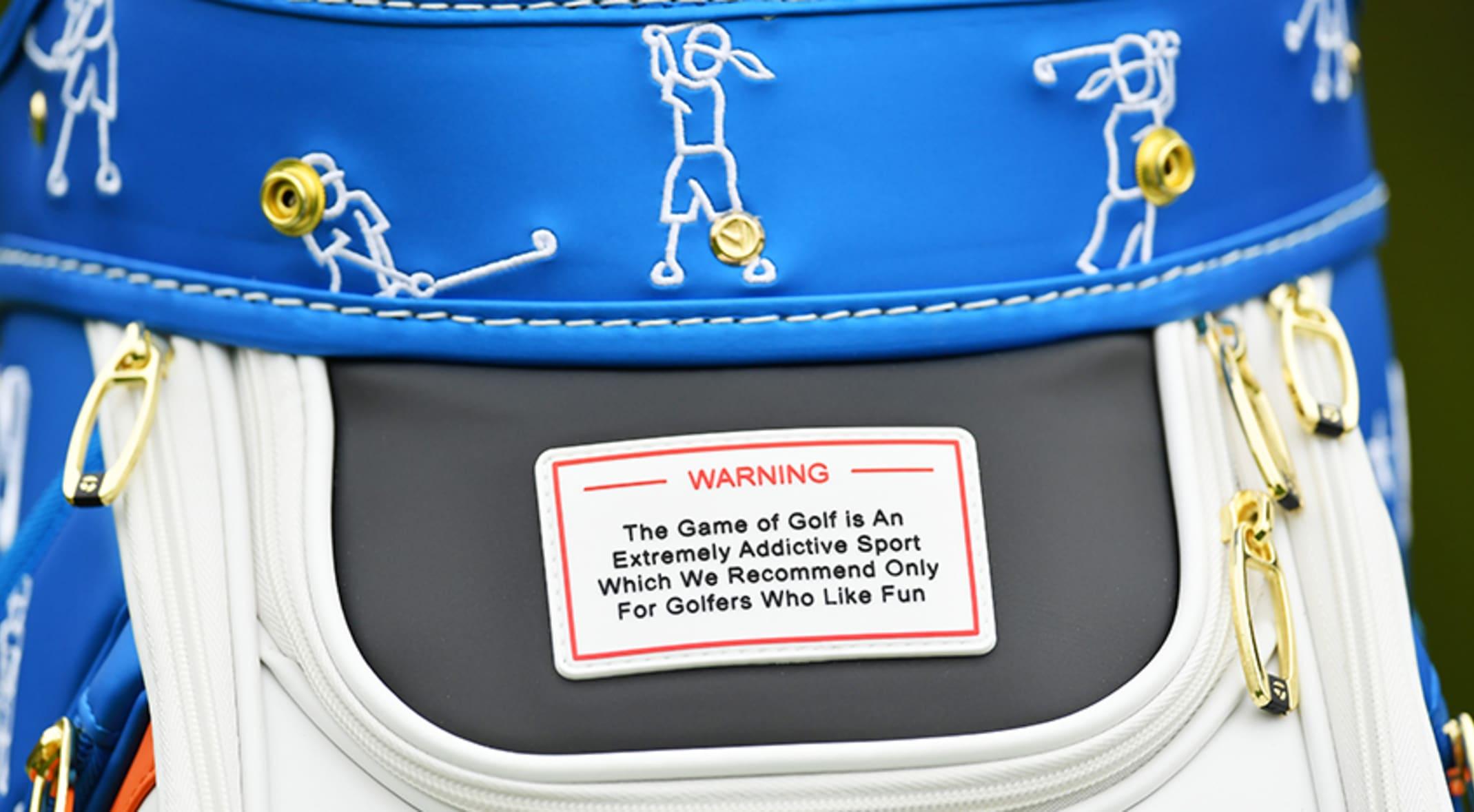 a76716bd40e8ff A custom Taylormade staff bag for the 2019 PGA Championship at Bethpage  Black (Stuart Franklin