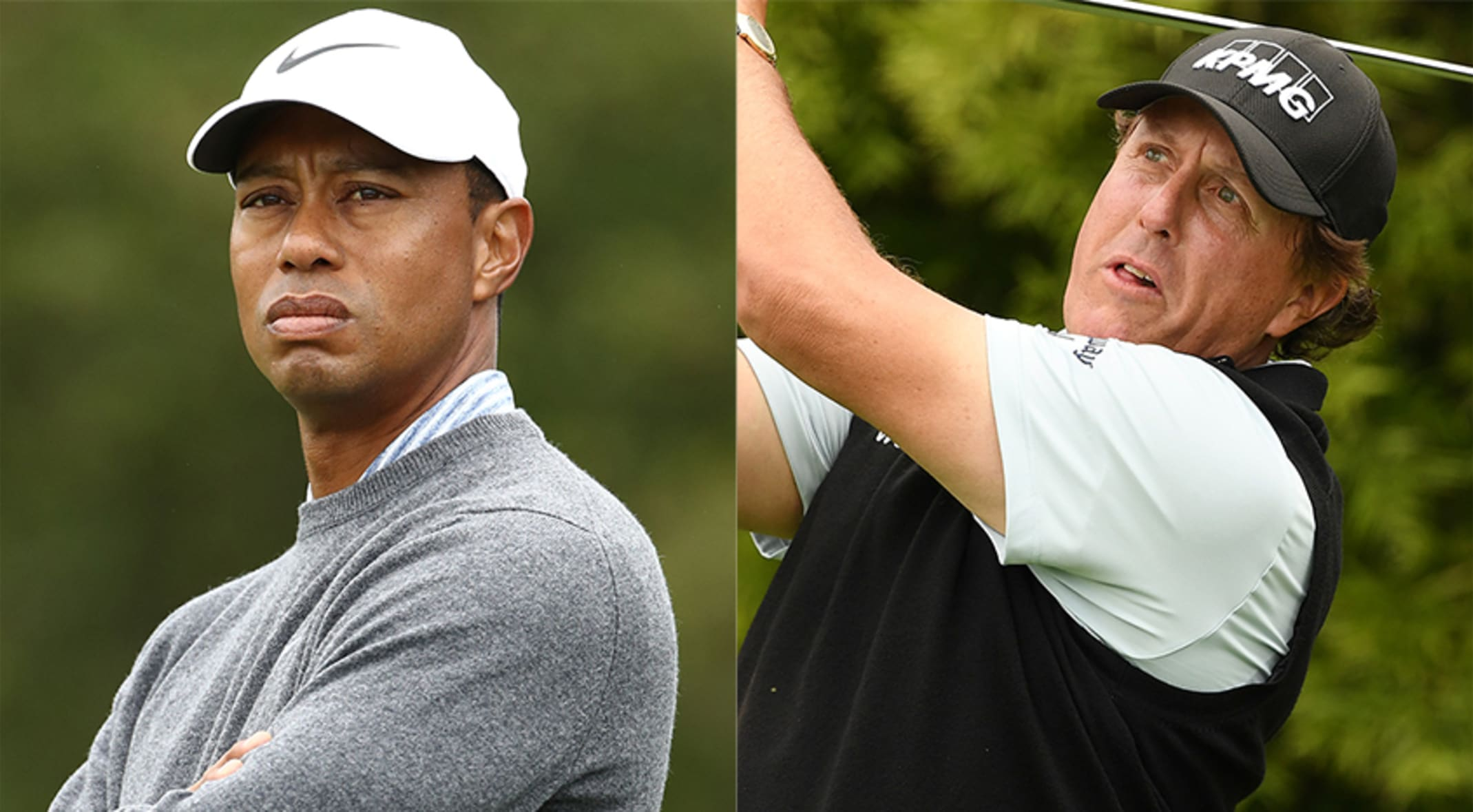 Tough day at Pebble Beach for Woods, Mickelson