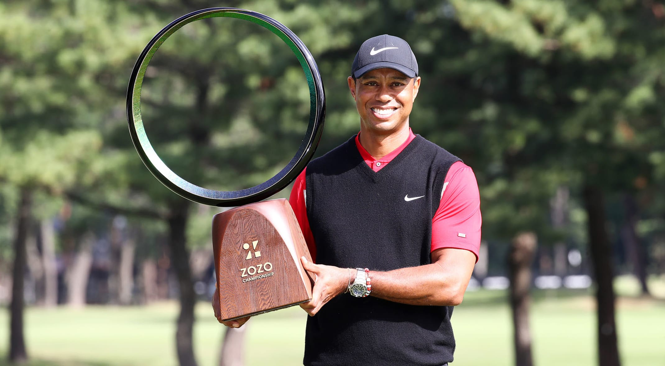 Defending champion Tiger Woods