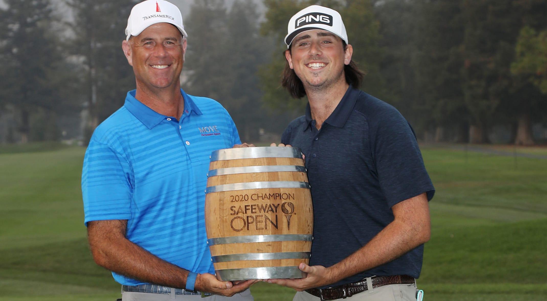 Defending champion Stewart Cink and his son/caddie Reagan