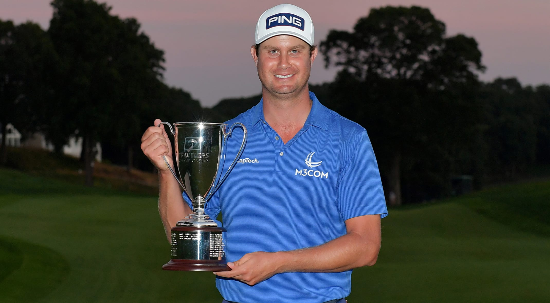 Harris English wins Travelers Championship in historic playoff