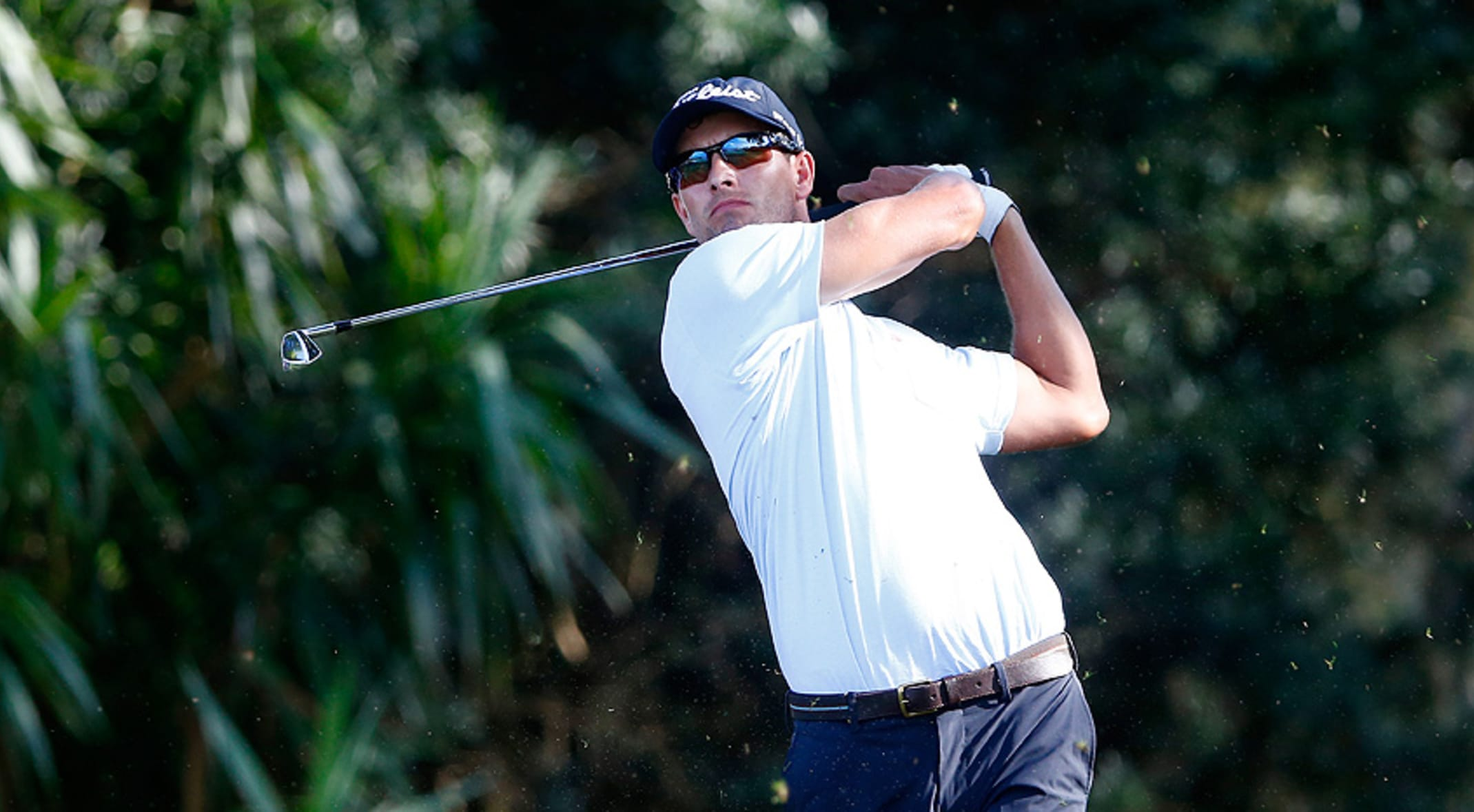 Adam Scott shot a 68 in the second round. (Greenwood/Getty Images)