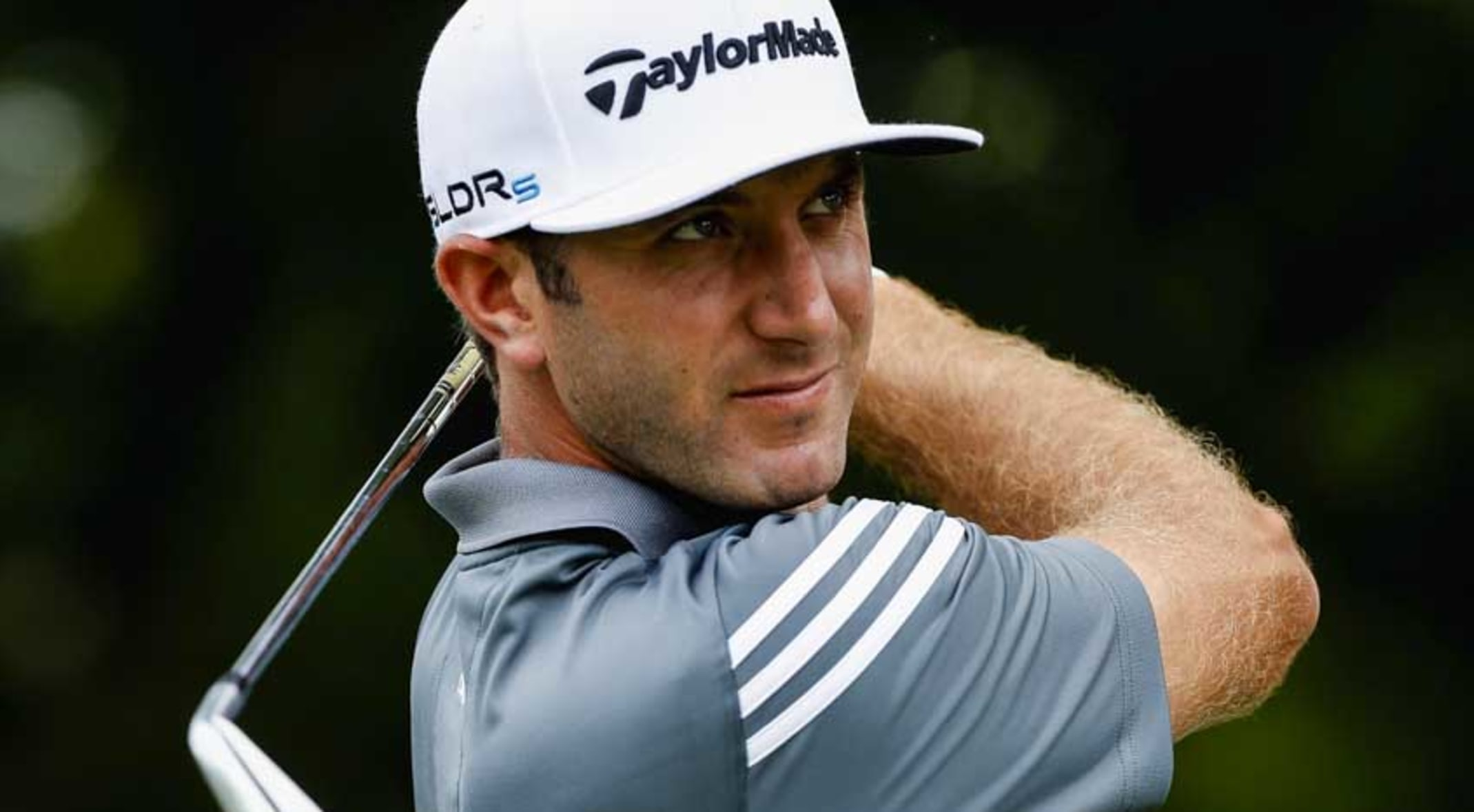 Dustin Johnson carded a bogey-free, 5-under 65 on Thursday at Colonial