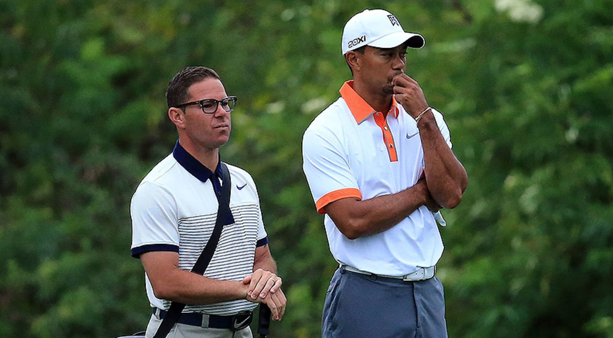 41360ee74a Tiger Woods won eight PGA TOUR titles while working with instructor Sean  Foley (left)