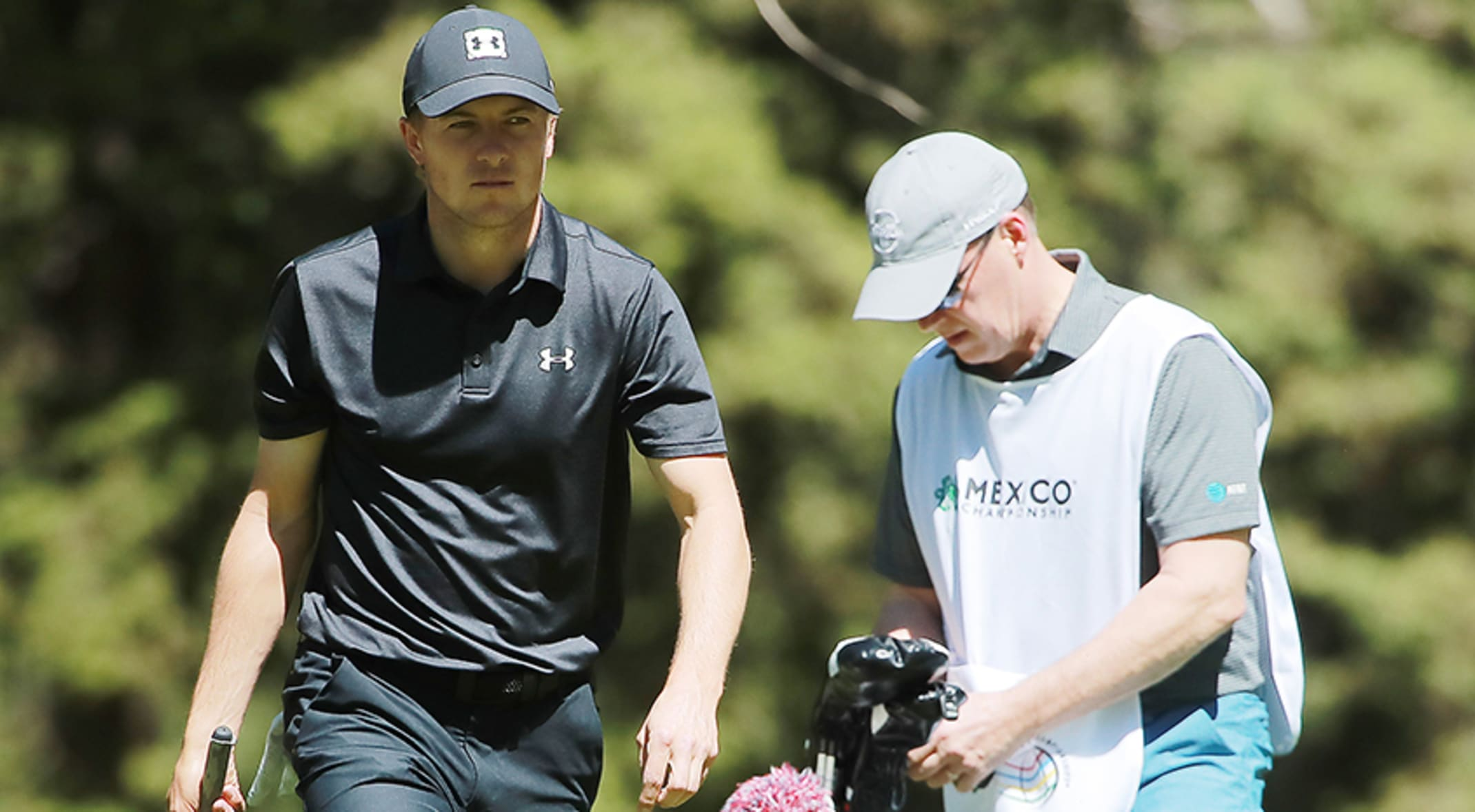 8226653fb169 Jordan Spieth struggled with an opening-round 75 at the WGC-Mexico  Championship.