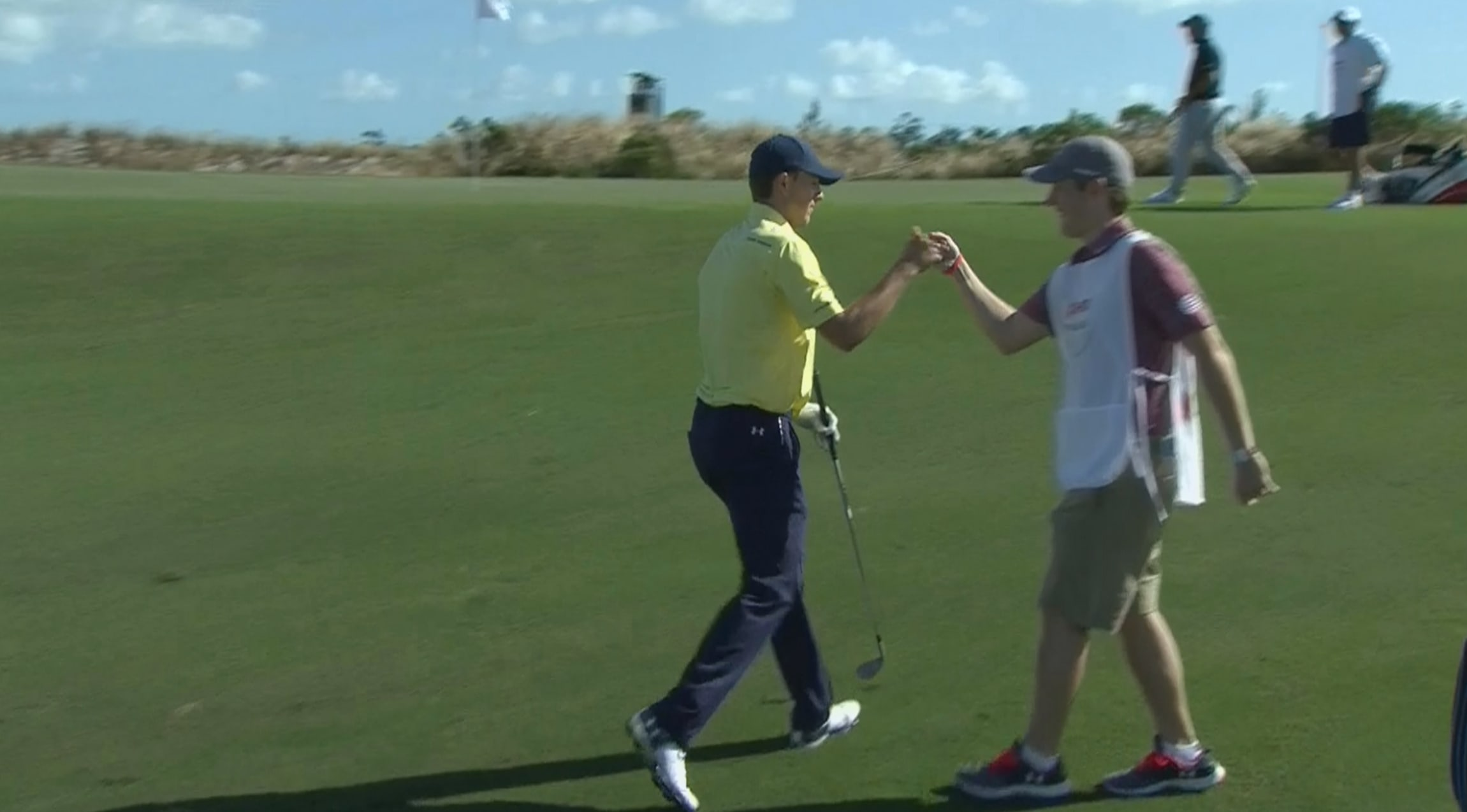 9db369005 Highlights Jordan Spieth skips one in for birdie at Hero In the second  round of the 2017 Hero World Challenge