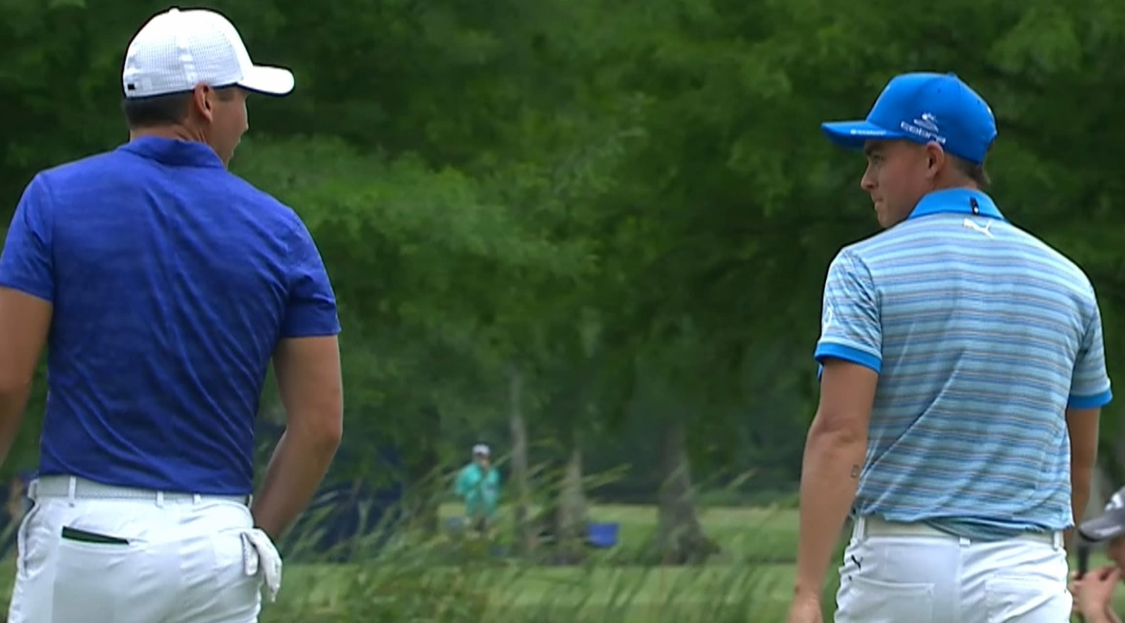 63fbcf01cb8 Highlights Rickie Fowler par-saving putt covers the distance at Zurich  During second-round Four-ball play at the 2017 Zurich Classic of New  Orleans