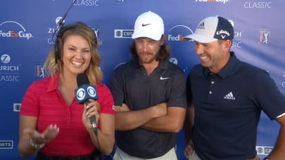b51da1a13288e Tommy Fleetwood and Sergio Garcia s interview after Round 3 at Zurich  Classic