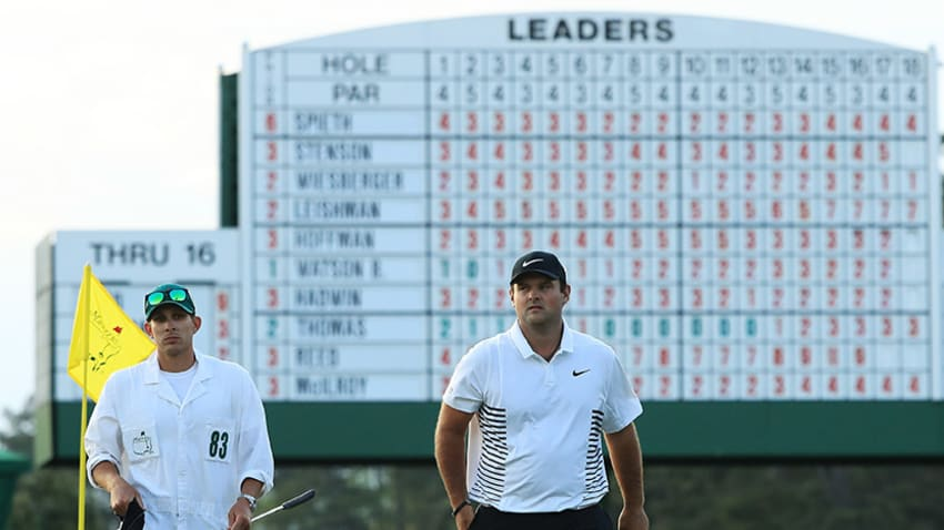 Masters 36-hole leader Patrick Reed will have to battle tough conditions ahead on Moving Day. (Andrew Redington/Getty Images)