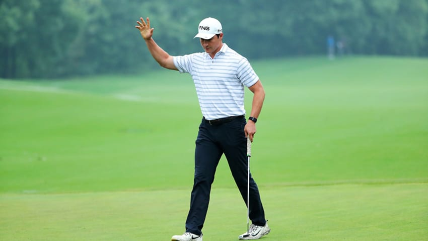 Charlie Saxon won the Changsha Championship on Monday. (PGA TOUR Series-China/Zhuang Liu)