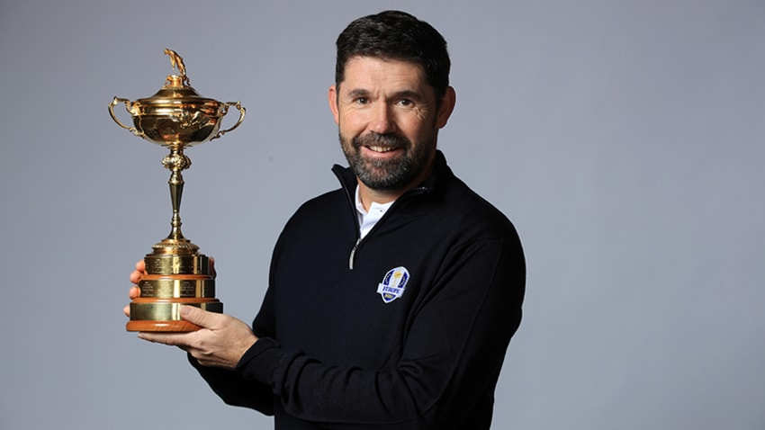 European captain Padraig Harrington with Ryder Cup