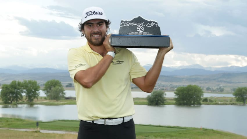 Nelson Ledesma with TPC Colorado trophy
