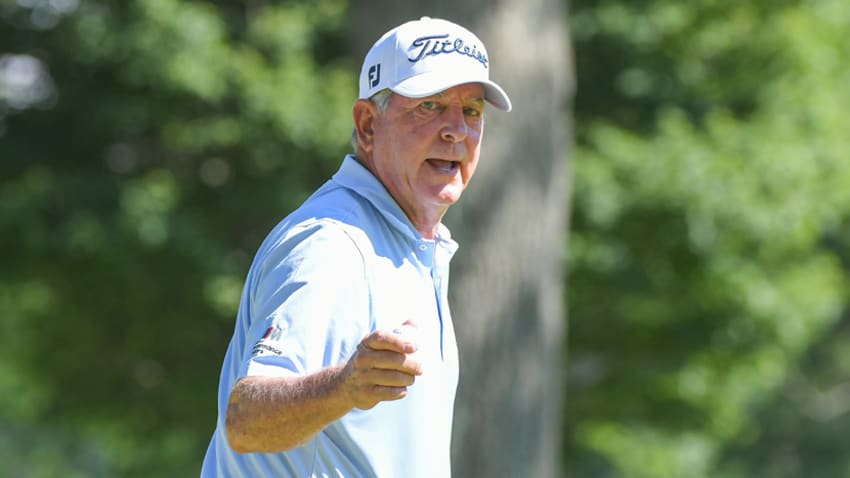 Jay Haas recently contemplated giving up the game for good. (Getty Images)