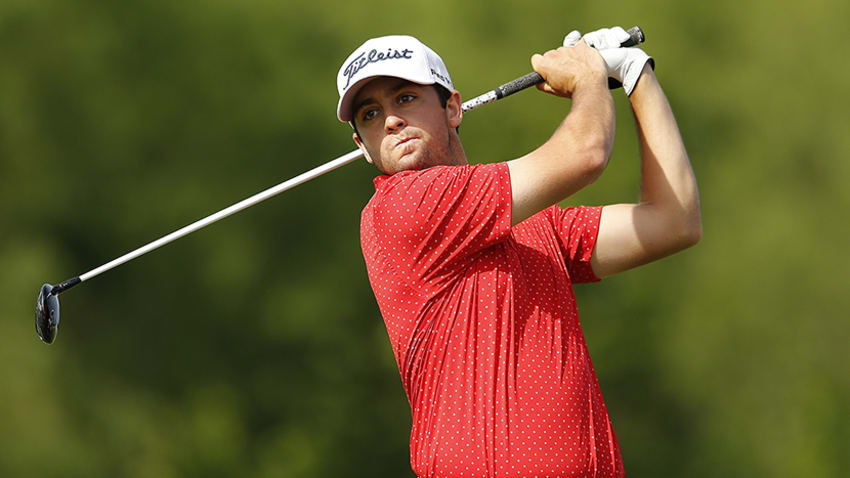 Davis Riley is on the cusp of qualifying for the Korn Ferry Tour Finals. (Michael Reaves/Getty Images)