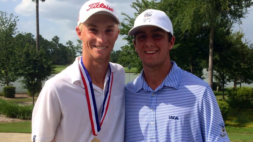 Will Zalatoris defeated Davis Riley, 5 and 3, in the 2014 U.S. Junior final at The Club at Carlton Woods. (Courtesy of Davis Riley/Will Zalatoris)