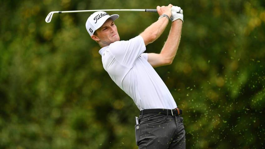 Wake Forest alum Will Zalatoris enters the U.S. Open on the strength of 11 consecutive top-20 finishes. (Jamie Sabau/Getty Images)