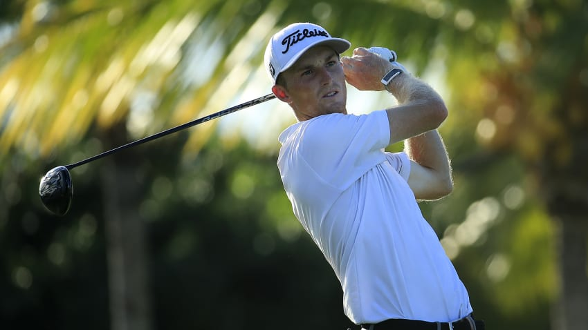 Will Zalatoris finished T8 at Corales Golf Club. (Andy Lyons/Getty Images)