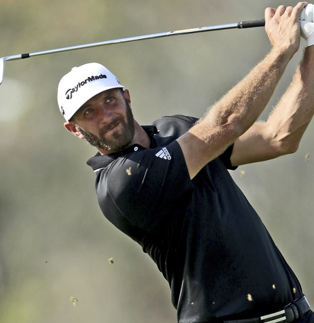 DJ tied for lead at Pebble Beach