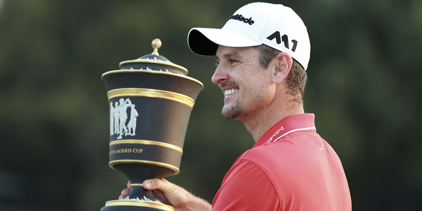 Justin Rose with WGC-HSBC trophy