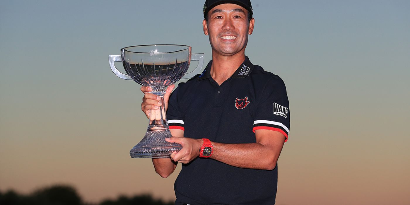 Kevin Na with Shriners trophy