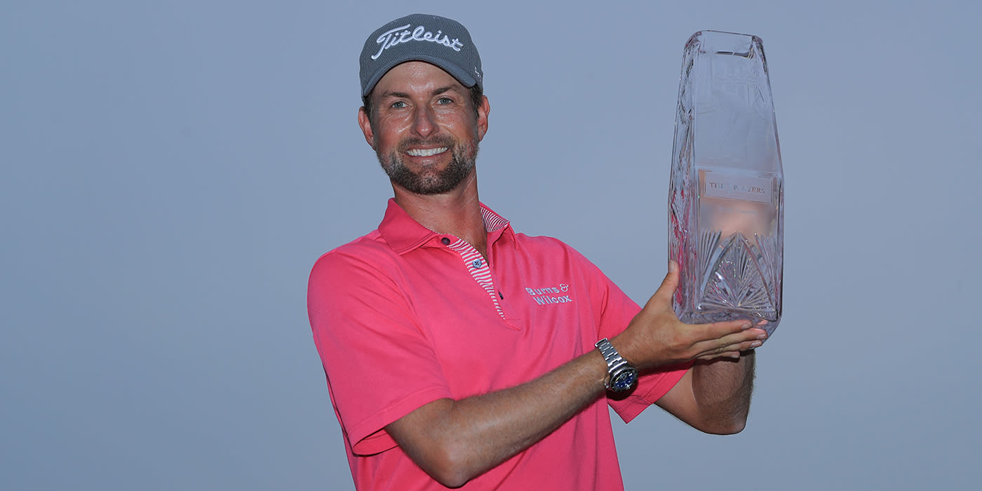 Webb Simpson with THE PLAYERS trophy